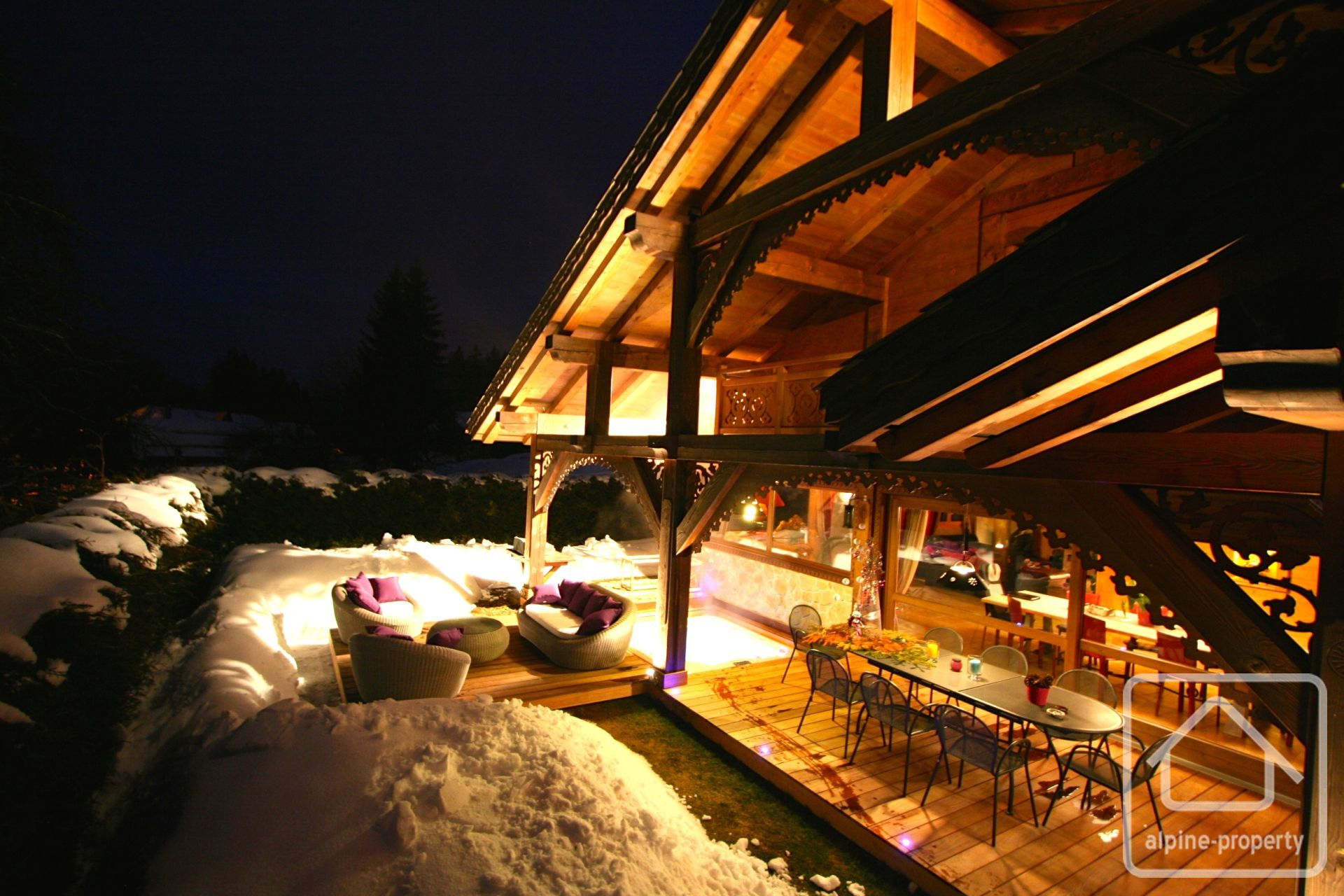 Chalet du lay alpine property estate agent in the french alps - Garage du ski les carroz ...