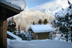 Chalet Chouette - The mazot and view of Mont Blanc