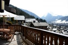 Chalet Robri - Main balcony and view to Morzine